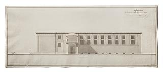 Thorvaldsens Museum, opstalt af facade mod Christiansborg Slot