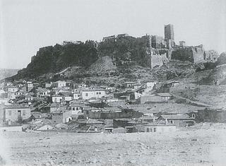 A. Normand: Udsigt mod Akropolis fra Nordvest, 1851