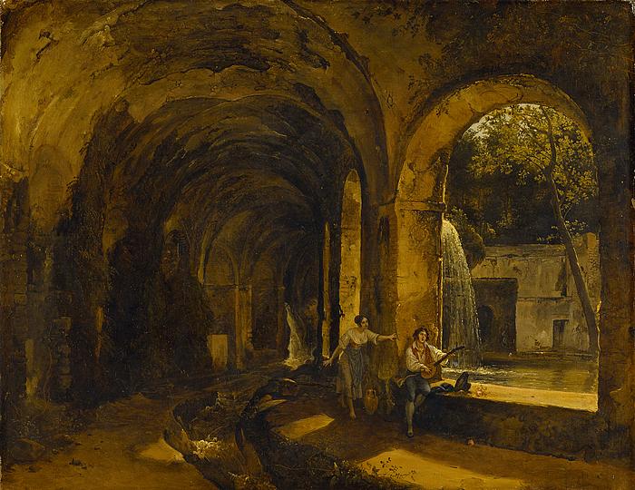 En grotte i Mæcenas villa i Tivoli