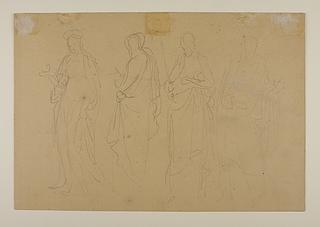 En kvindelig og tre mandlige religiøse figurer