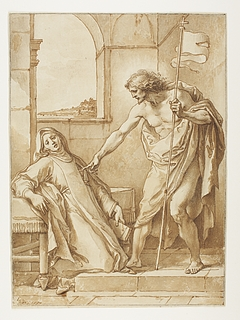 Kristus åbenbarer sig for Sankt Clara