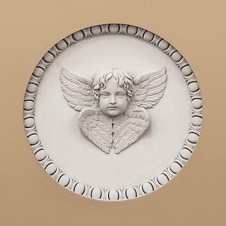 Bertel Thorvaldsen: Kerub, gips, opsat 1828, Vor Frue Kirke