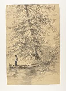 Mand der fisker fra en båd