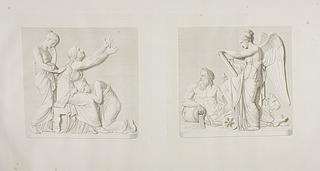 Johann Bethmann-Hollwegs sørgende moder og søstre. Nemesis og flodguden Arno