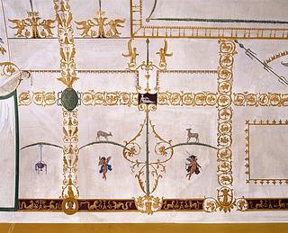 Detalje af loftet på 1. sal. Thorvaldsens Museum.