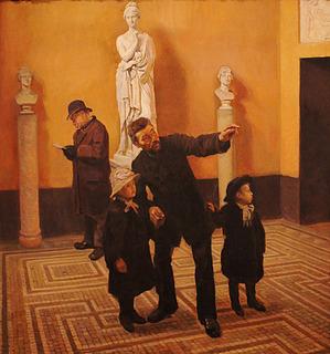 G.S. Seligmann: Søndag på Thorvaldsens Museum, 1888 - Copyright tilhører Den Hirschsprungske Samling