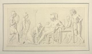Priamus bønfalder Achilleus om Hektors lig