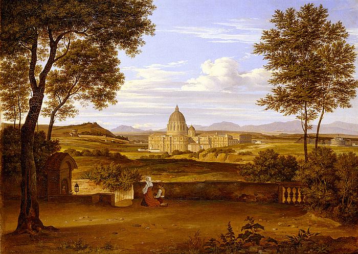 Udsigt til Peterskirken fra Villa Doria Pamphilis have