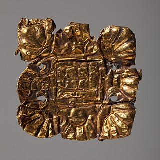 Smykkeplade. Etruskisk