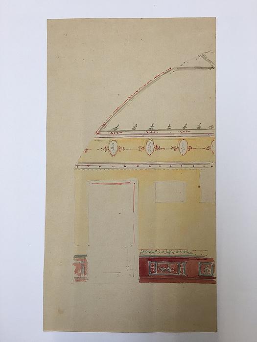 Løffler, interiørskitse, Skovgaarden