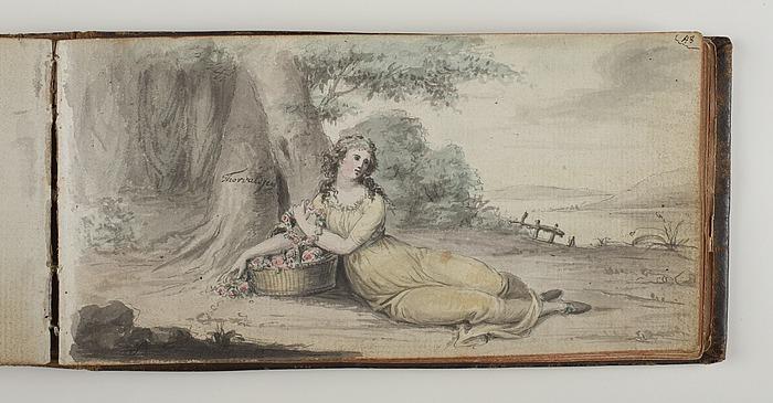 Kvinde ved to træer