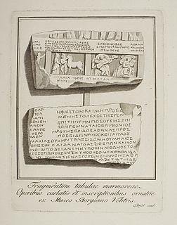 Figurscener og inskriptioner