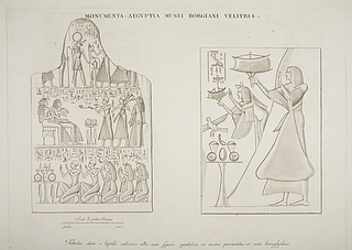 Relieffer med figurer og hieroglyffer
