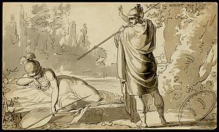 Mars og Minerva som krigsgudinde