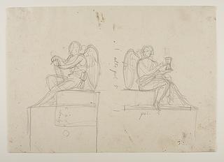 Englene i monument over Pius 7.