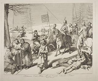 Hetman Platov med sine kosakker og tatarer