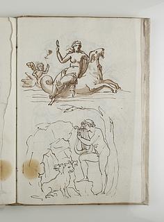 Venus på en havhest. Orfeus og Cerberus