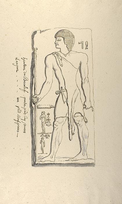Embedsmand. Hieroglyffer
