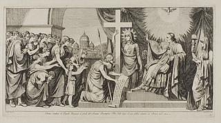 Roma conduce il Popolo Romano ai piedi del Sommo Pontefice pio VII ( Roma fører det romerske folk til Pius 7. efter hans tilbagevenden til Rom 1814 )