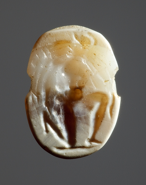 Ajax bærer Achilleus' lig. Romersk republikansk ringsten