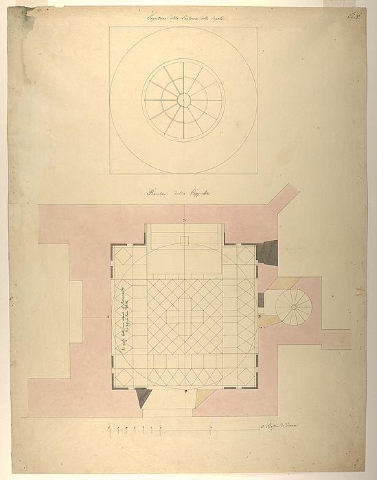 Familien Potockis gravkapel, grundplan og lanterneplan