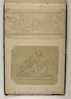 Planteornament. Ganymedes med Jupiters ørn