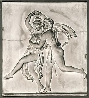 Satyr danser med bacchantinde
