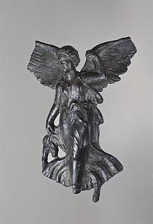 Vinget, flyvende gudinde. Romersk hjørnebeslag