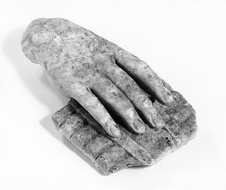 Skulptur af Pan (?) med en panfløjte. Romersk
