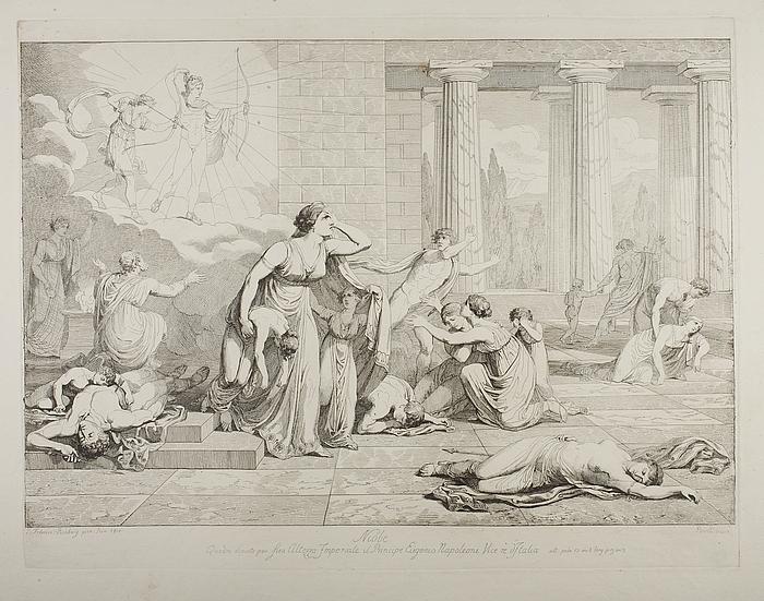 Niobe mellem sine døende børn