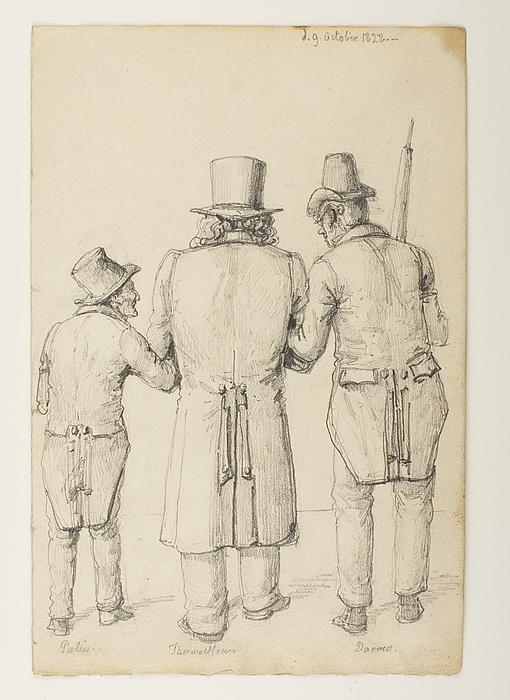 Greven Gustav Palin, Thorvaldsen og arkæologen Wilhelm Dorow