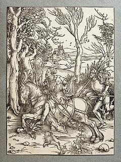 Ridderen på hesteryggen og en lansedrager