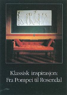 Omslaget til katalogen »Klassisk inspirasjon: Fra Pompei til Rosendal«