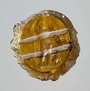 Zeus med tordenkile, scepter og ørn. Hellenistisk-romersk paste