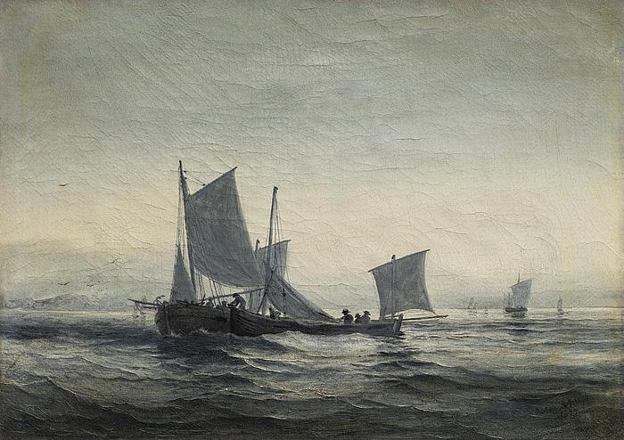Fiskerbåde i Kanalen