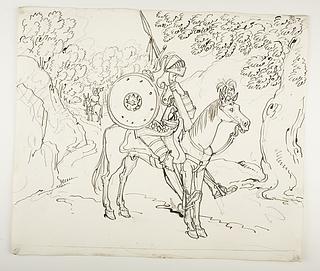 Don Quixote og Sancho Panza rider hver sin vej