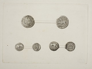Græsk mønter for- og bagside