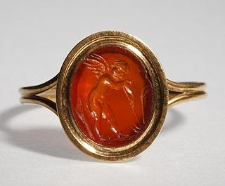Eros med en hakke. Hellenistisk-romersk ringsten