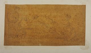 Thetis og Achilleus begræder Patrokles' død