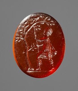 Fuglefænger. Hellenistisk-romersk ringsten