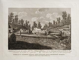 Sepolcri su le strada che conduce alla Porta di Pompei (Grave på vejen som fører til indgangen til Pomej)