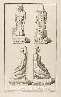 Mandlig figur, knælende