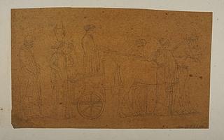 Odysseus følger Nausikaa og hofpigerne