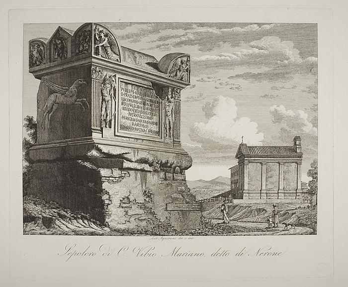 Sepolcro di C Vibio Mariano detto di Nerone ( Monument for Vibio Mariano kendt som Tomba di Nerone )