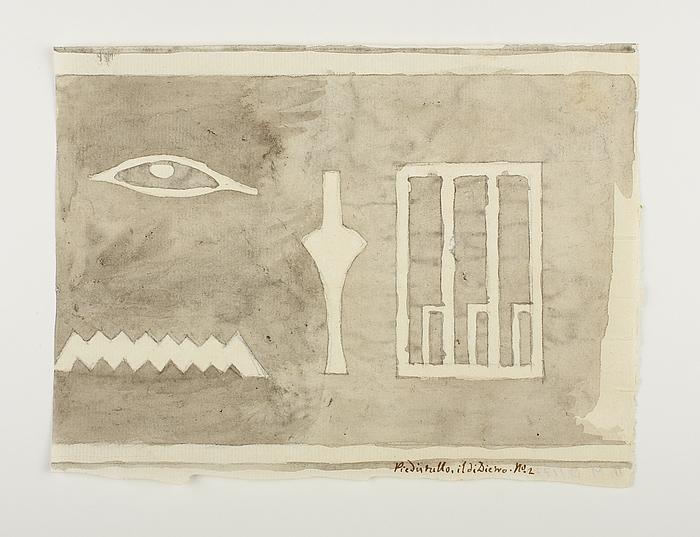 Hieroglyfindskrift, andet brudstykke fra bagside