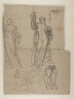 Bertel Thorvaldsen: Amor og Psyche. Bacchus, med flere motiver, ca. 1804 (Copyright tilhører Thorvaldsens Museum)