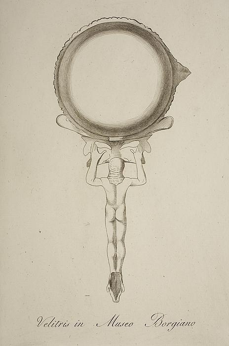 Skål med håndtaget udformet som Merkur