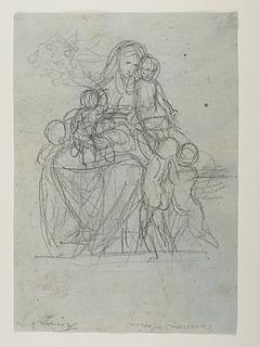 Bertel Thorvaldsen: Caritas med fem børn (Copyright tilhører Thorvaldsens Museum)