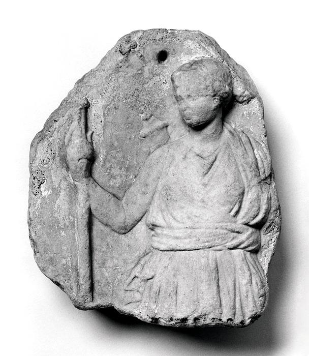 Votivrelief med Diana. Hellenistisk/romersk