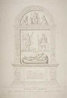 Entwurff eines Gravmaals ( Udkast til monument for Andreas Hofer )